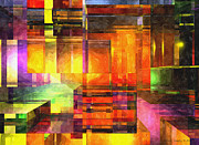 Distortion Digital Art Prints - Abstract Glass - 19052013 - AMCG Print by Michael C Geraghty