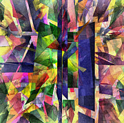 Distortion Digital Art Prints - Abstract Glass - 21052013 - AMCG Print by Michael C Geraghty