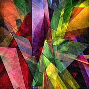 Distortion Digital Art Prints - Abstract Glass - 25052013 - AMCG Print by Michael C Geraghty