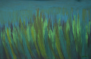 Kate Farrant Art - Abstract Green Painting by Kate Farrant