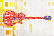 Fender Art - Abstract Guitar by David Ridley