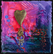 Metal Pastels - Abstract Heart 1 by Tracy L Teeter