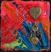 Metal Pastels - Abstract Heart 2 by Tracy L Teeter