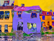Abstract Houses Print by Nina Bradica