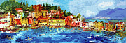 Ginette Fine Art LLC Ginette Callaway - Abstract Italy Sestri Levante Liguria Panoramic Modern Art