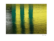 Xoanxo Cespon Posters - Abstract Lake Reflections 2 Poster by Xoanxo Cespon