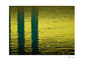 Xoanxo Cespon Posters - Abstract Lake Reflections Poster by Xoanxo Cespon
