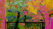 Peter Max Prints - Abstract Lamp Post Print by Terry Weaver