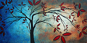 Rust Paintings - Abstract Landscape Art Original Painting SMILE UPONE ME by MADART by Megan Duncanson