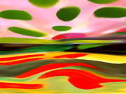 Abstract Landscape Of Happiness Print by Amy Vangsgard