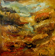 Signed Originals - Abstract Landscape Oil Painting by Angel Angelov