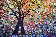 Circles Prints - Abstract Landscape Painting ... Magic Garden Print by Amy Giacomelli