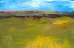 Olive Green Painting Prints - Abstract Landscape - The Highway Series Print by Michelle Calkins