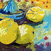 Ginette Fine Art LLC Ginette Callaway - Abstract Lemons Original Art