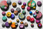 Spheres Metal Prints - Abstract - Marbles Metal Print by Mike Savad