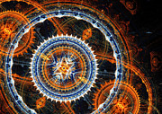 Abstract Mechanical Fractal Print by Martin Capek