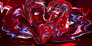 Lovesick Prints - Abstract Melting Heart Print by Viola Holmgren