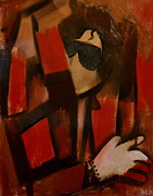 Abstract Michael Jackson Thriller Cubism Painting Print by Tommervik