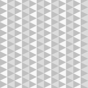 Op Art Digital Art Posters - Abstract Monochrome Geometric Pattern Poster by Atthamee Ni