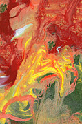 Fiery Prints - Abstract - Nail Polish - In a state of flux Print by Mike Savad