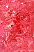 Salmon Art - Abstract - Nail Polish - My ice cream melted by Mike Savad