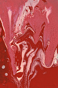 Blood Prints - Abstract - Nail Polish - Tongue Print by Mike Savad