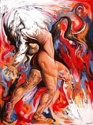 Darwin Leon - Abstract nude liberating...