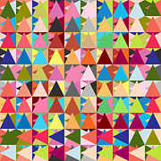 Geometric Shapes Posters - Abstract Of Colors  Poster by Mark Ashkenazi
