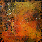 Earth Tone Art Posters - Abstract Orange Art Poster by Andrada Anghel