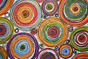 Circles Prints - Abstract Painting ... Bounce Print by Amy Giacomelli