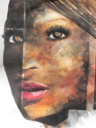 Beautiful Prints Originals - Abstract Painting of Singer Beyonce  by Chrisann Ellis
