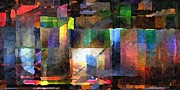 Distortion Digital Art Prints - Abstract Palette March 2013 - 002 - AMCG Print by Michael C Geraghty