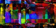 Distortion Digital Art Prints - Abstract Palette March 2013 - 011 - AMCG Print by Michael C Geraghty