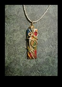 Polymer Jewelry - Abstract Pendant by Sonia Rodriguez