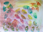 Occasion Paintings - Abstract petals by Sonali Gangane