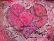 Jennifer Vazquez - Abstract Pink Heart