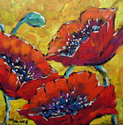 Canadian Artist Painter Painting Originals - Abstract Poppies by Prankearts by Richard T Pranke