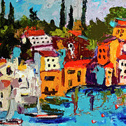 Oil Mixed Media - Abstract Portovenere Italy Part One by Ginette Callaway