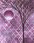 Megan Duncanson - Abstract Purple Pattern...