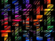 Shower Digital Art - Abstract Rainbows W 76 by L Brown