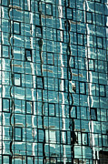 Glass Wall Prints - Abstract Reflections in Windows Print by Artur Bogacki