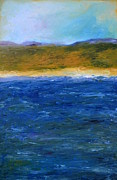 Lake Michigan Painting Originals - Abstract Shoreline by Michelle Calkins