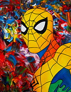 Spiderman Paintings - Abstract Spider by Cevin Cox