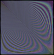 Optical Illusion Digital Art Posters - Abstract -  Square Warper Poster by Donna E Pickelsimer