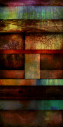 Brown Tones Digital Art Framed Prints - Abstract Study Five  Framed Print by Ann Powell