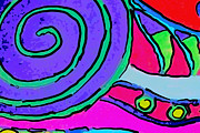 Fushia Framed Prints - Abstract Swirl Framed Print by Jodi Jacobson