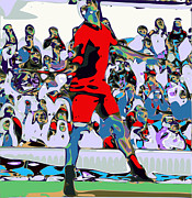 Federer Digital Art Prints - Abstract Tennis Print by Chris Butler