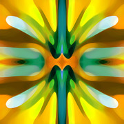 Abstract Movement Art - Abstract YellowTree Symmetry by Amy Vangsgard
