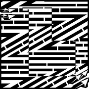 Formation Drawings Prints - Abstract Zig Zag Formations Maze  Print by Yonatan Frimer Maze Artist