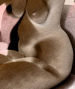 Nudes Digital Art - Abstracted Nude Realities by James Barnes